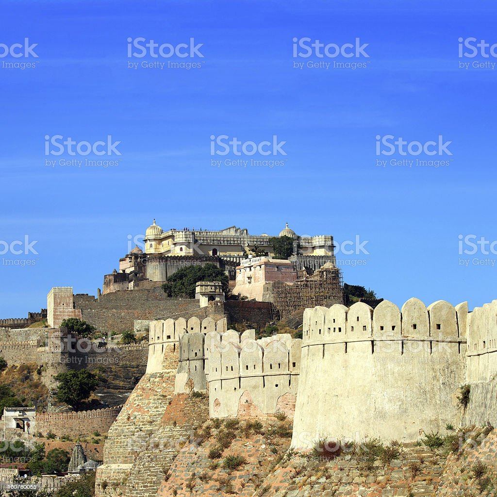kumbhalgarh fort in india stock photo