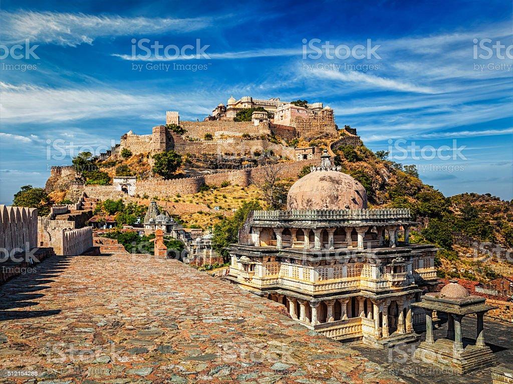 Kumbhalgarh fort, India stock photo