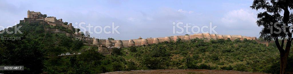 Kumbhalgarh Fort - Panaromic View stock photo