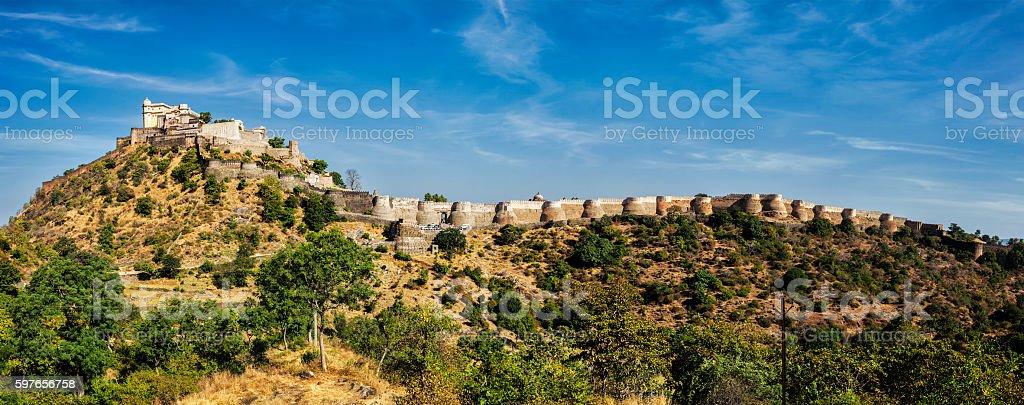 Kumbhalgrh fort. Rajasthan, India stock photo