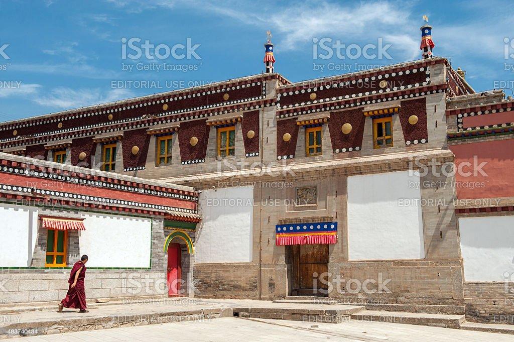 Kumbum monastery in Qinghai province, China stock photo