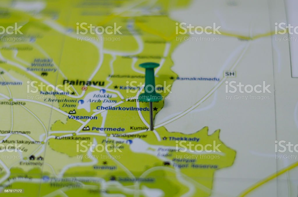 Kumily map stock photo