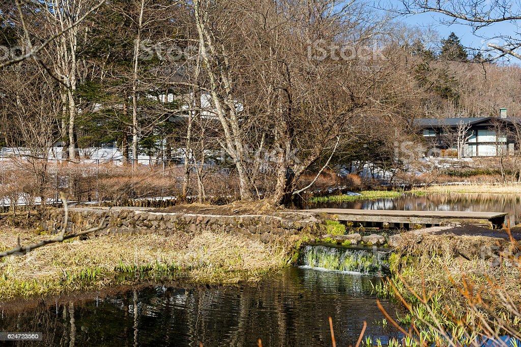 Kumoba Lake in Karuizawa stock photo