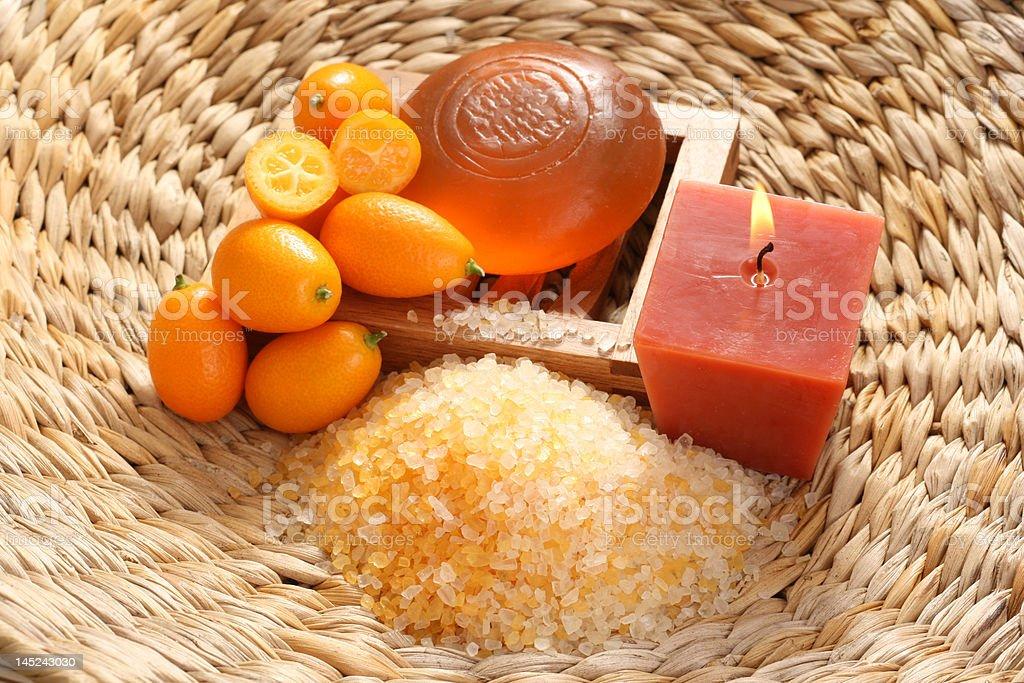 kumquat bath royalty-free stock photo