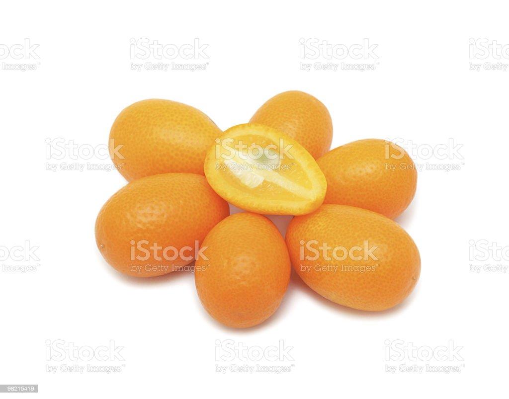Kumquat, isolated royalty-free stock photo
