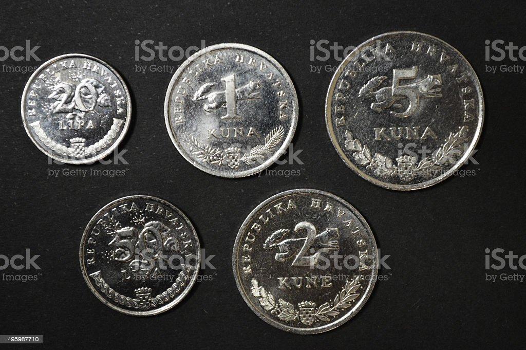 kuna croata moneda dinero foto de stock libre de derechos