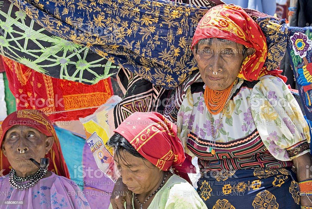 Kuna Indian Ladies royalty-free stock photo