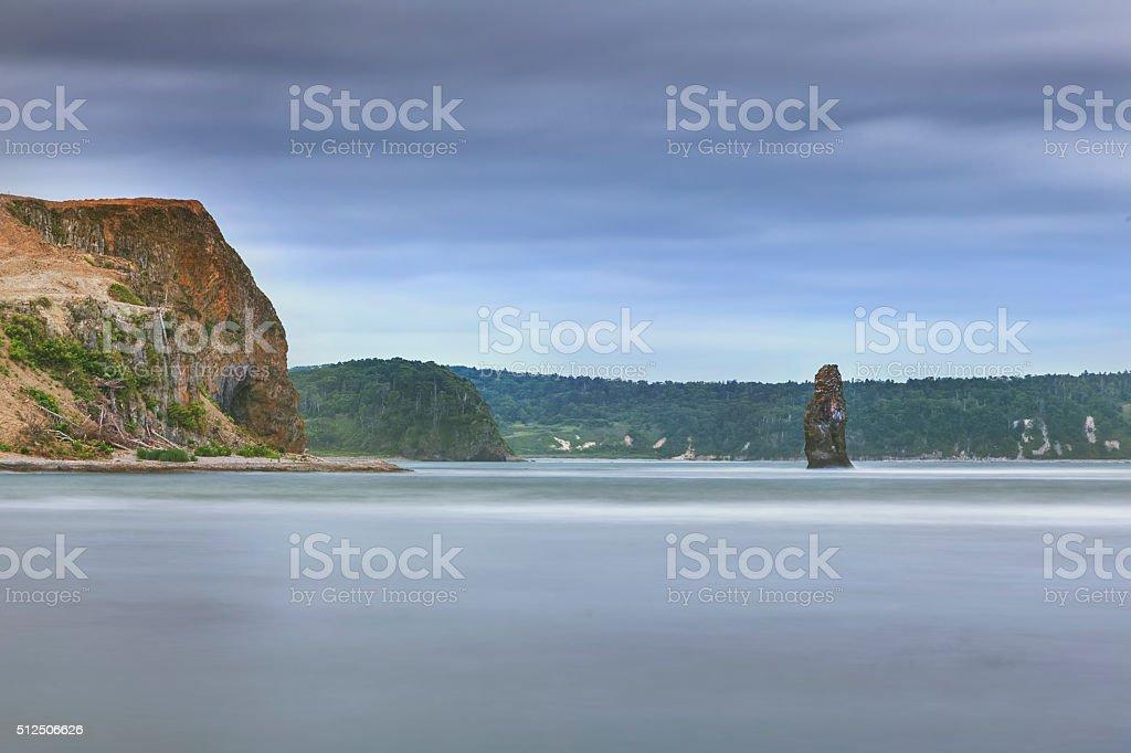 Kunashir landscape stock photo