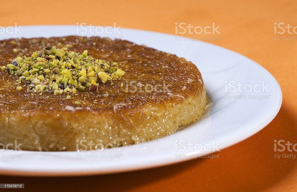 Kunefe, Turkish sweet royalty-free stock photo