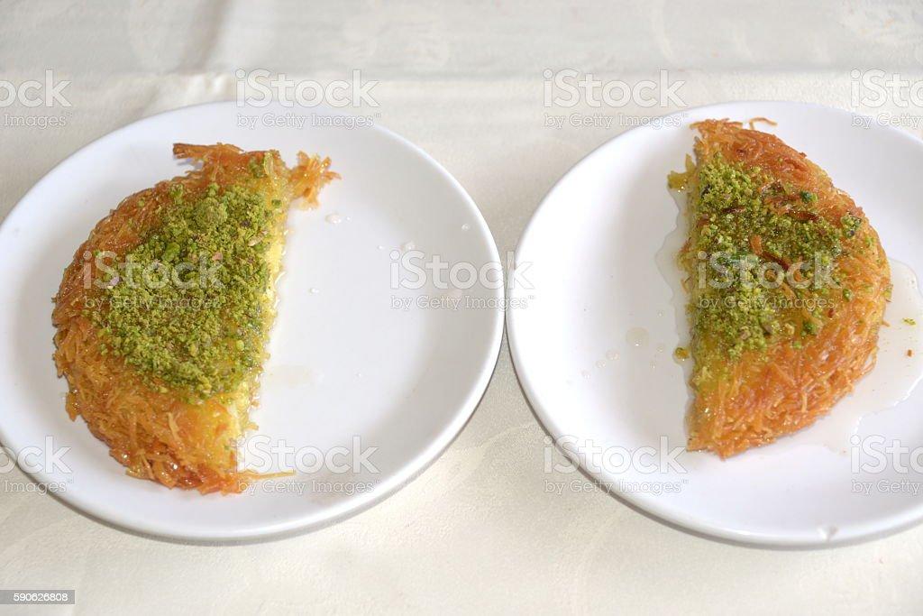 Kunefe,Turkish Dessert Kunefe stock photo