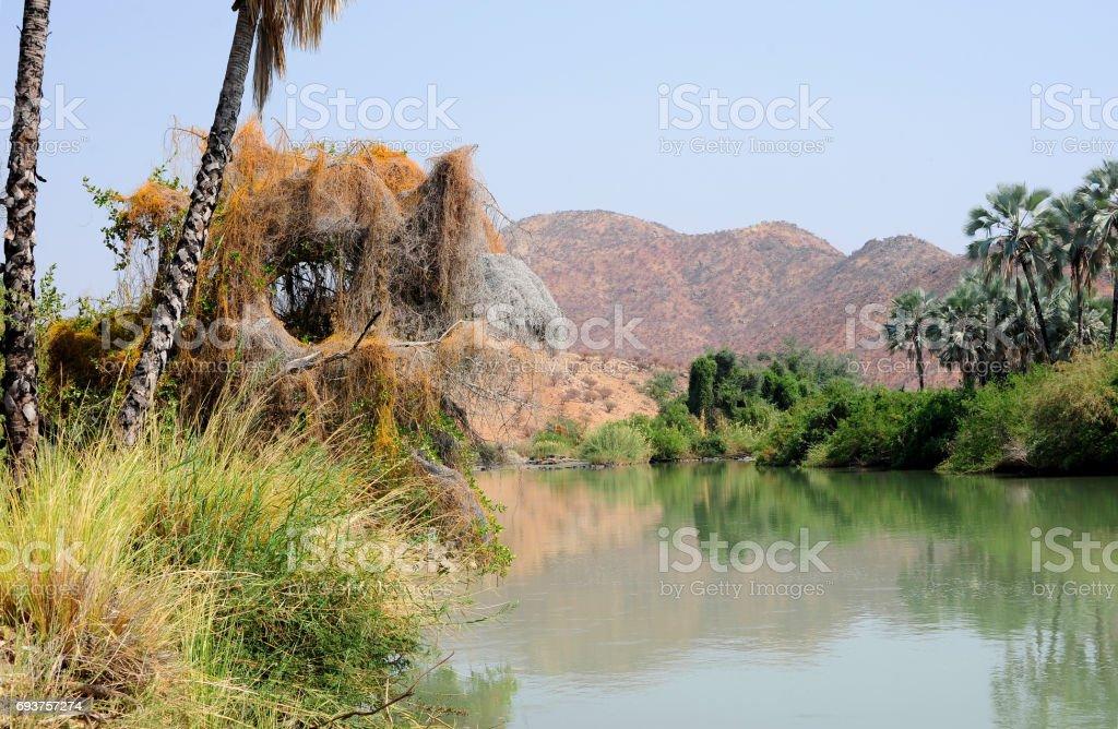Kunene River stock photo