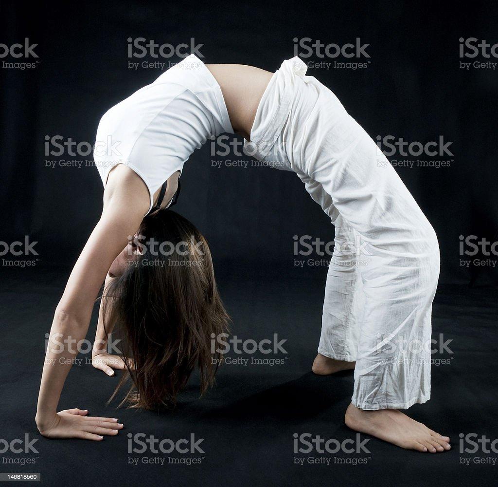 Kung Fu Girl royalty-free stock photo