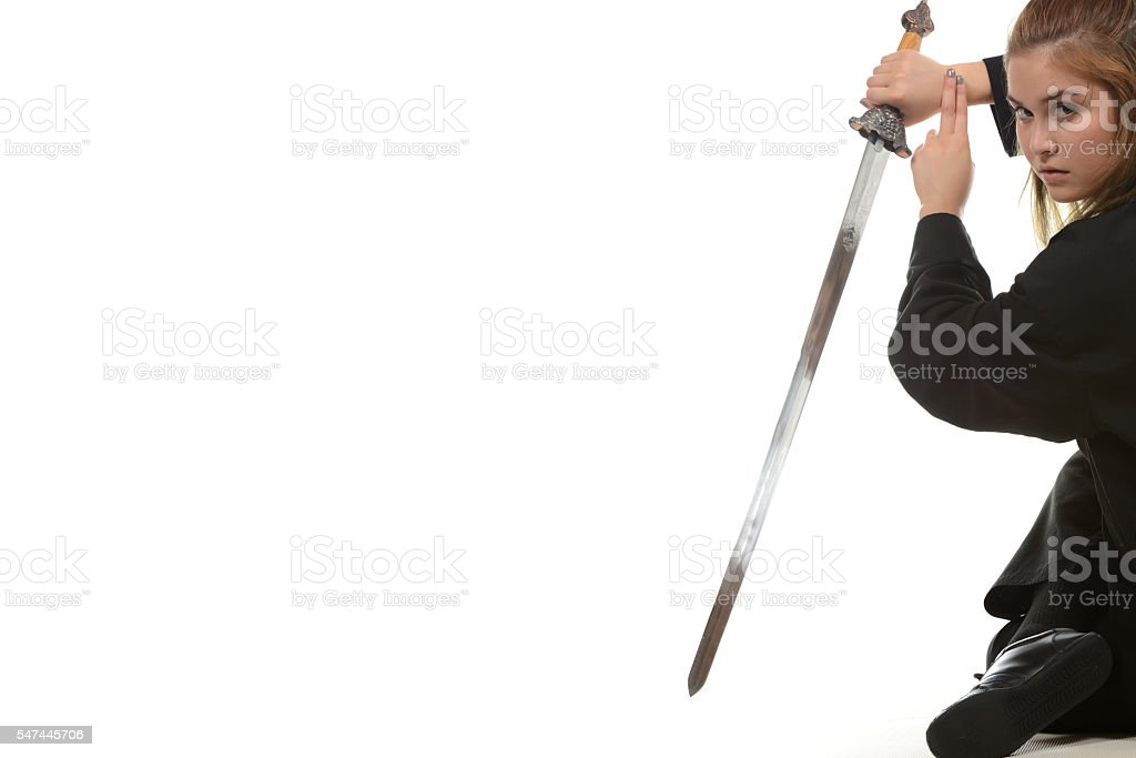 Kung Fu Sword stock photo