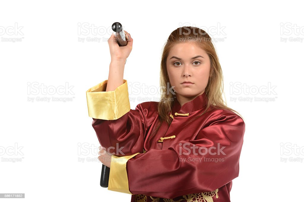 Kung Fu Weapon stock photo