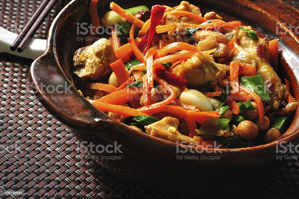 Kung pao chicken royalty-free stock photo