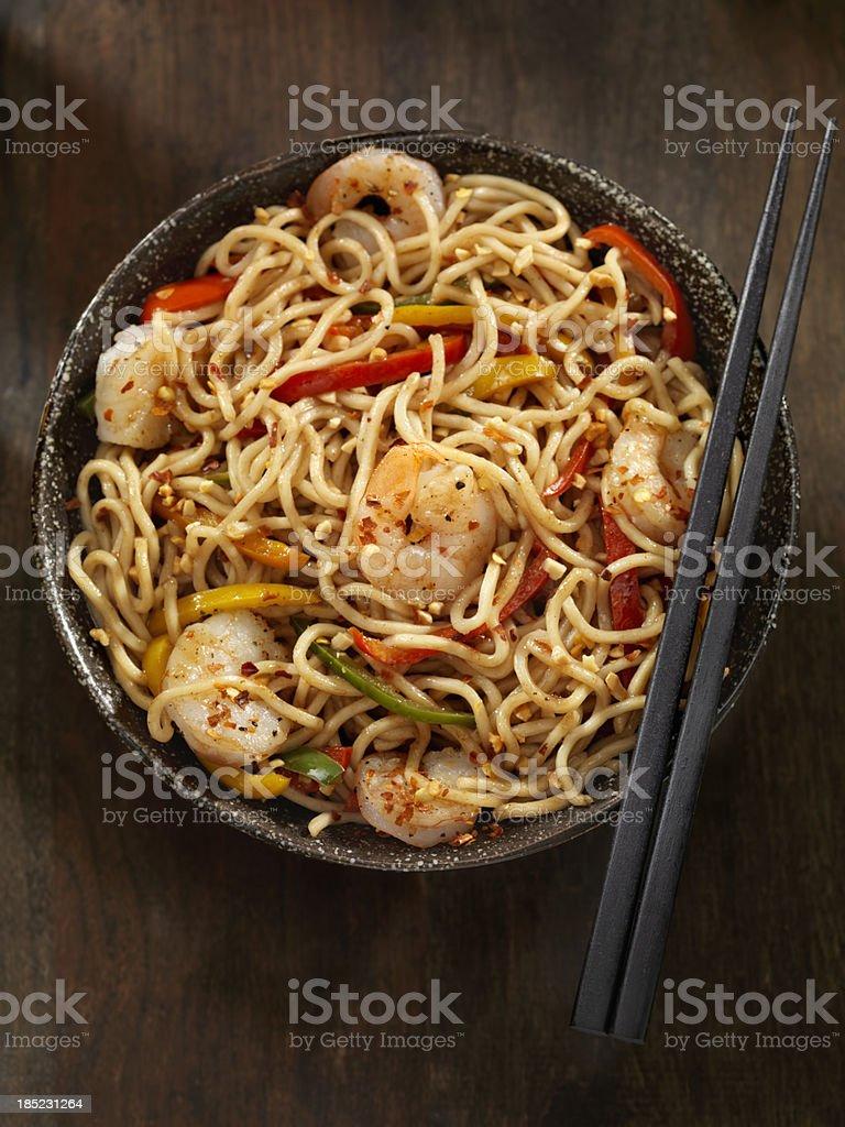 Kung Pao Shrimp stock photo