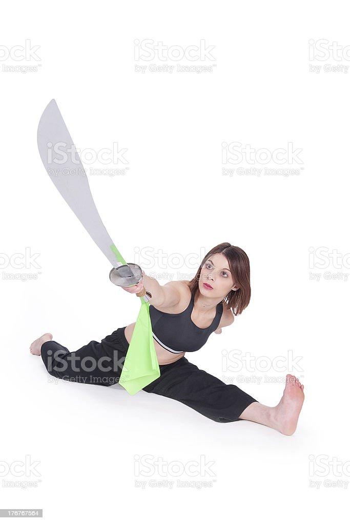 Kungfu Girl stock photo