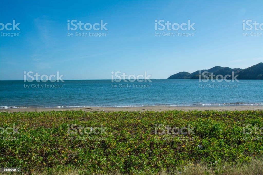Kung-krabaen beach , Chantaburi in Thailand stock photo