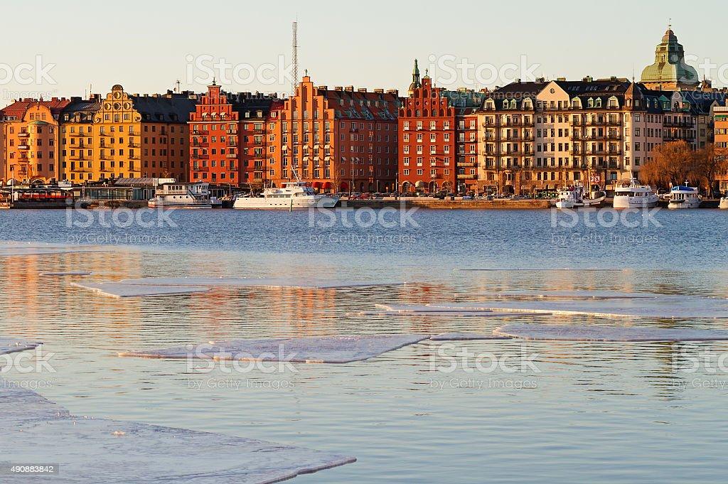 Kungsholmen in Stockholm. stock photo