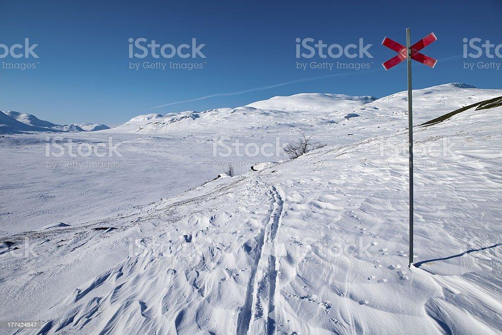 Kungsleden on wintertime royalty-free stock photo