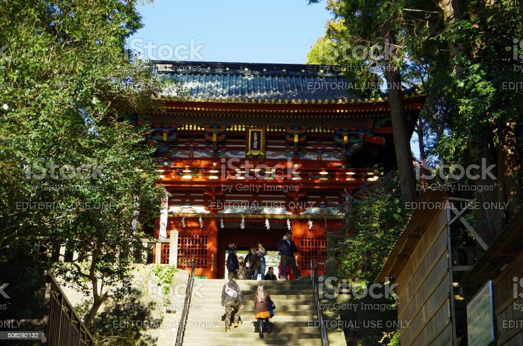 """Kunō-zan Tōshō-gū"" Shintō santuario japonés foto de stock libre de derechos"