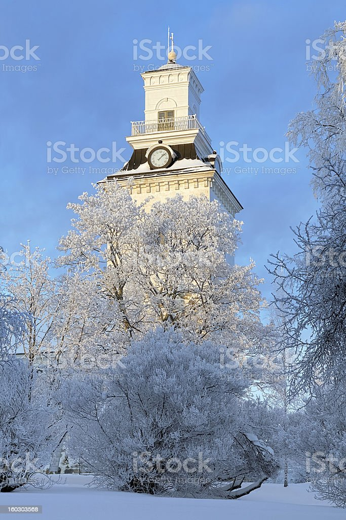 Kuopio Cathedral in winter, Finland royalty-free stock photo