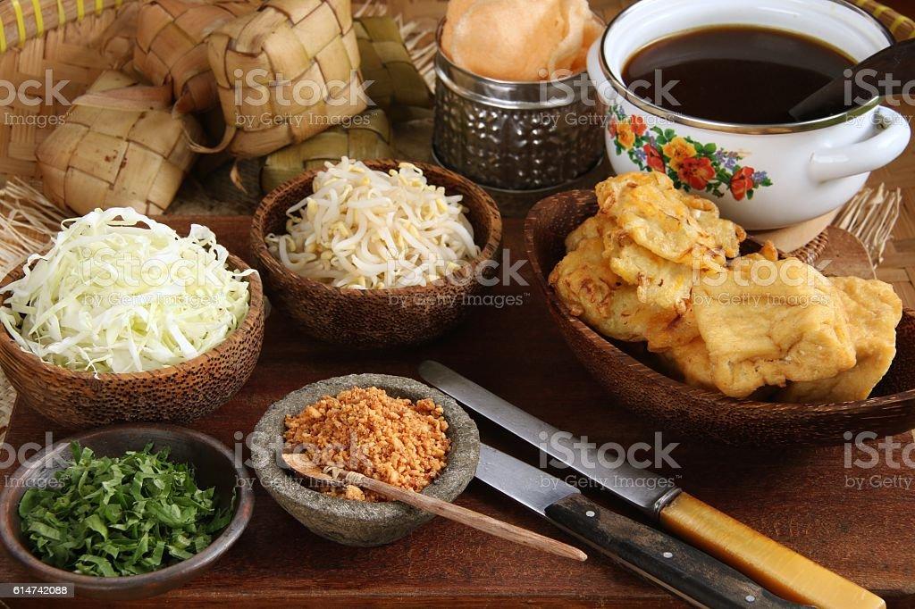 Kupat Tahu Magelang stock photo