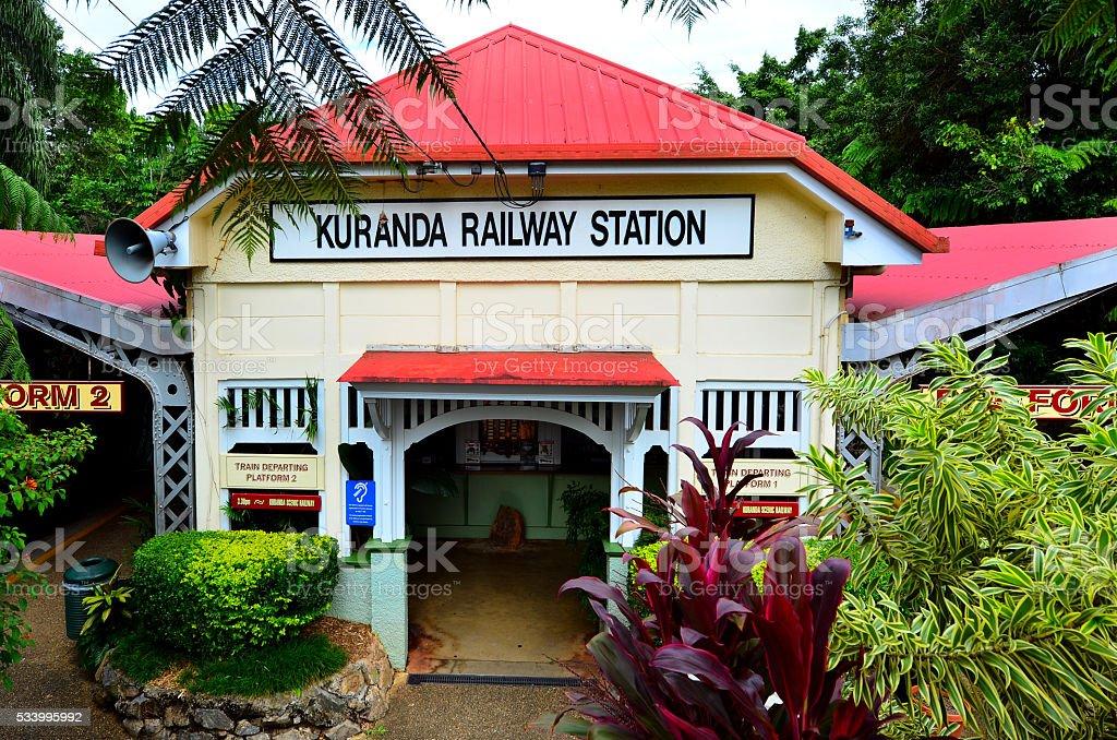 Kuranda Train Station in Queenland Australia stock photo