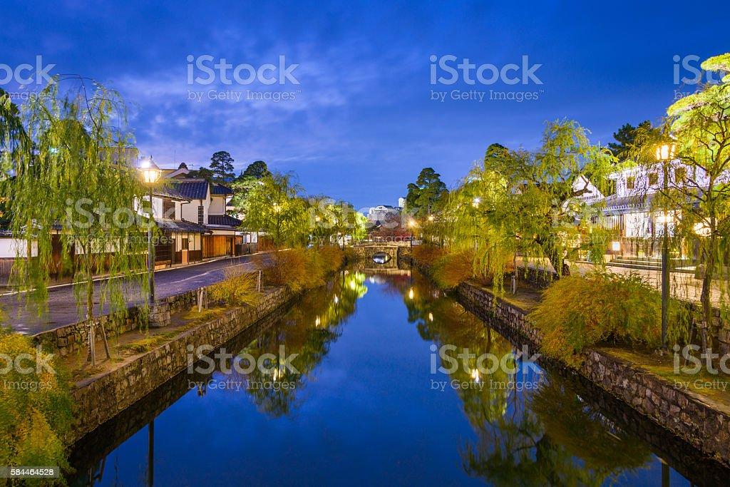 Kurashiki Canal in Japan stock photo