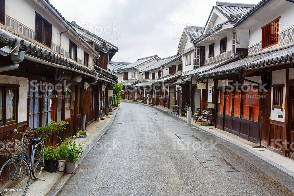 Kurashiki city, old japanese town in Okayama prefecture stock photo