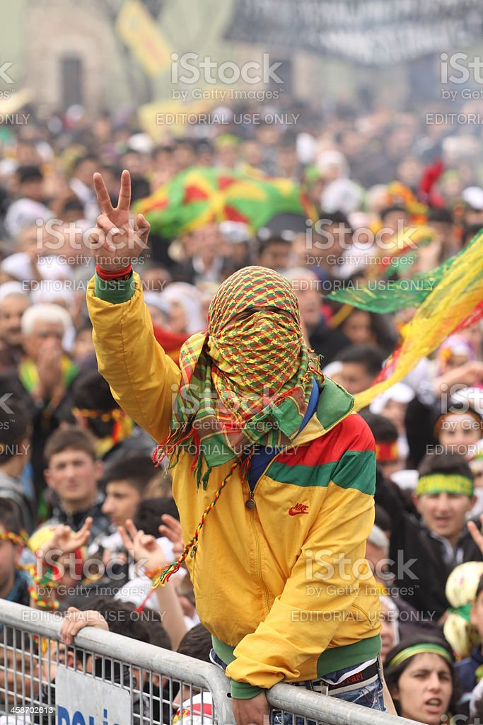 Kurdish Feast Newroz stock photo