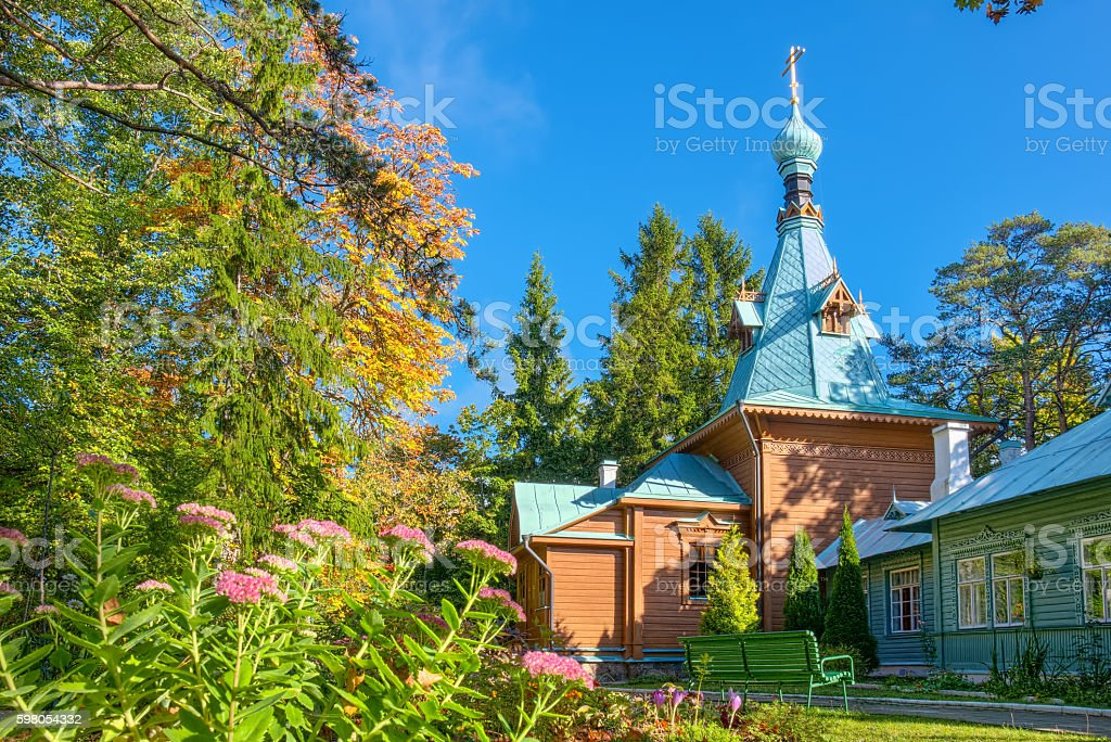 Kuremae Dormition Convent. Estonia stock photo