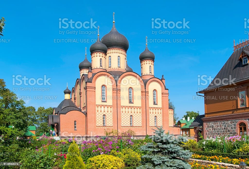Kuremae, Estonia. Dormition Cathedral stock photo
