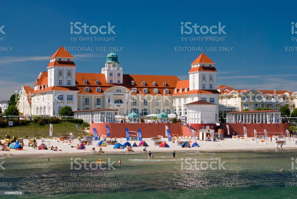 Kurhaus Binz in Rugen Island stock photo