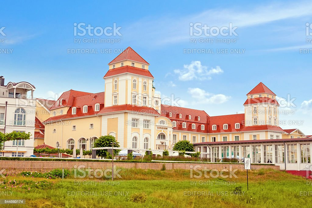 Kurhaus Binz, Island Rügen, Germany stock photo
