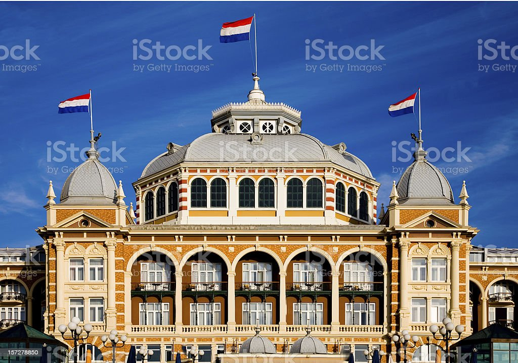 Kurhaus in Scheveningen royalty-free stock photo
