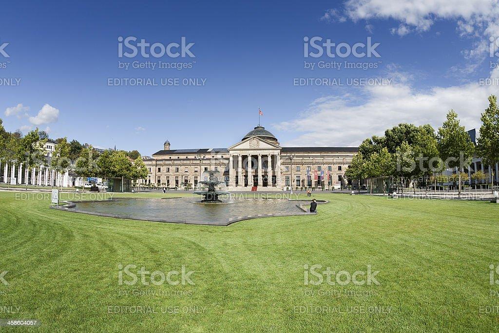 Kurhaus Wiesbaden and Bowling Green stock photo