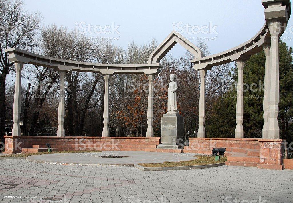 Kurmandjan Datka monument, Bishkek, Kyrgyzstan stock photo