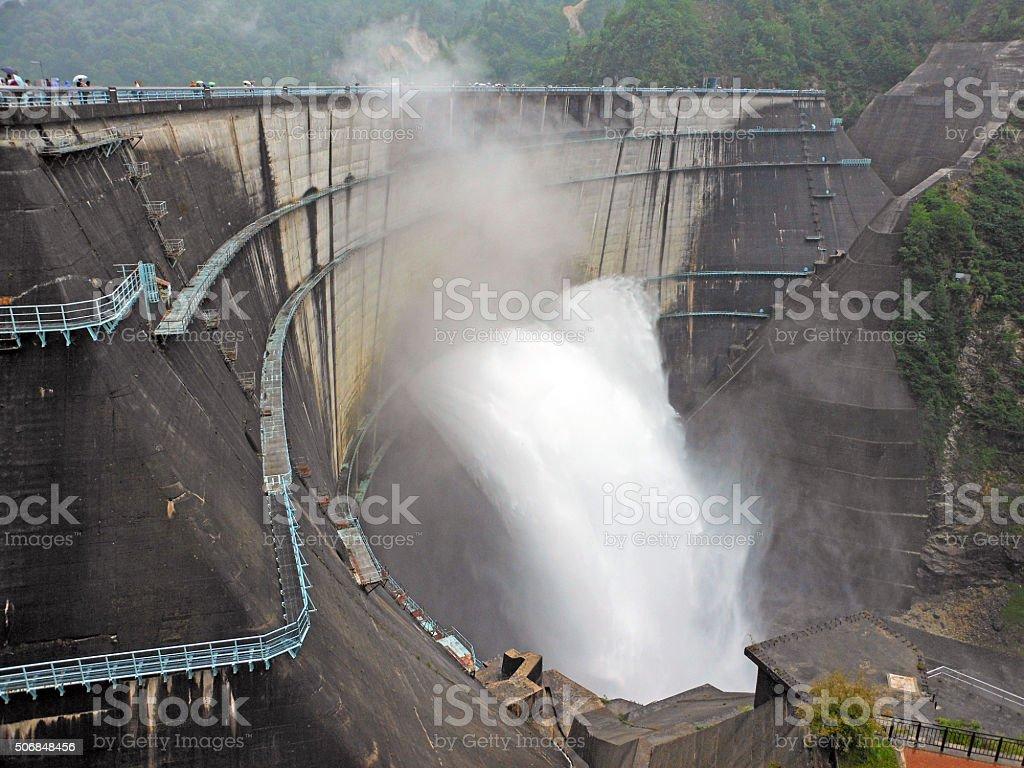 Kurobe Dam in Japan stock photo