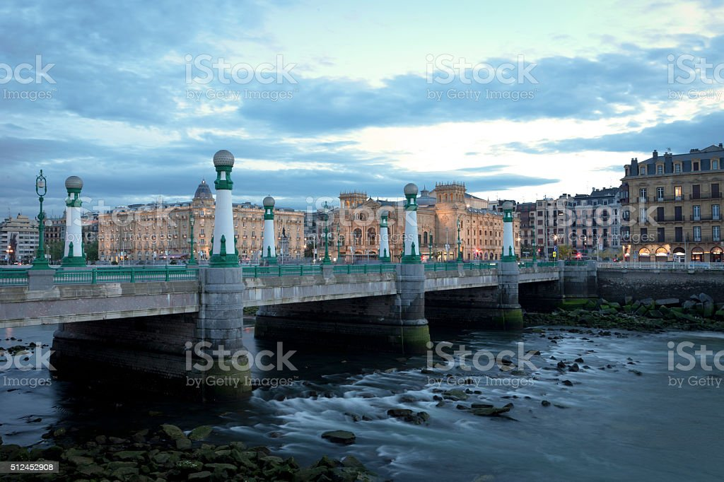 Kursaal bridge in San Sebastian stock photo