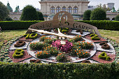"Kursalon and ""Unsere Garten"" flower clock, Vienna"