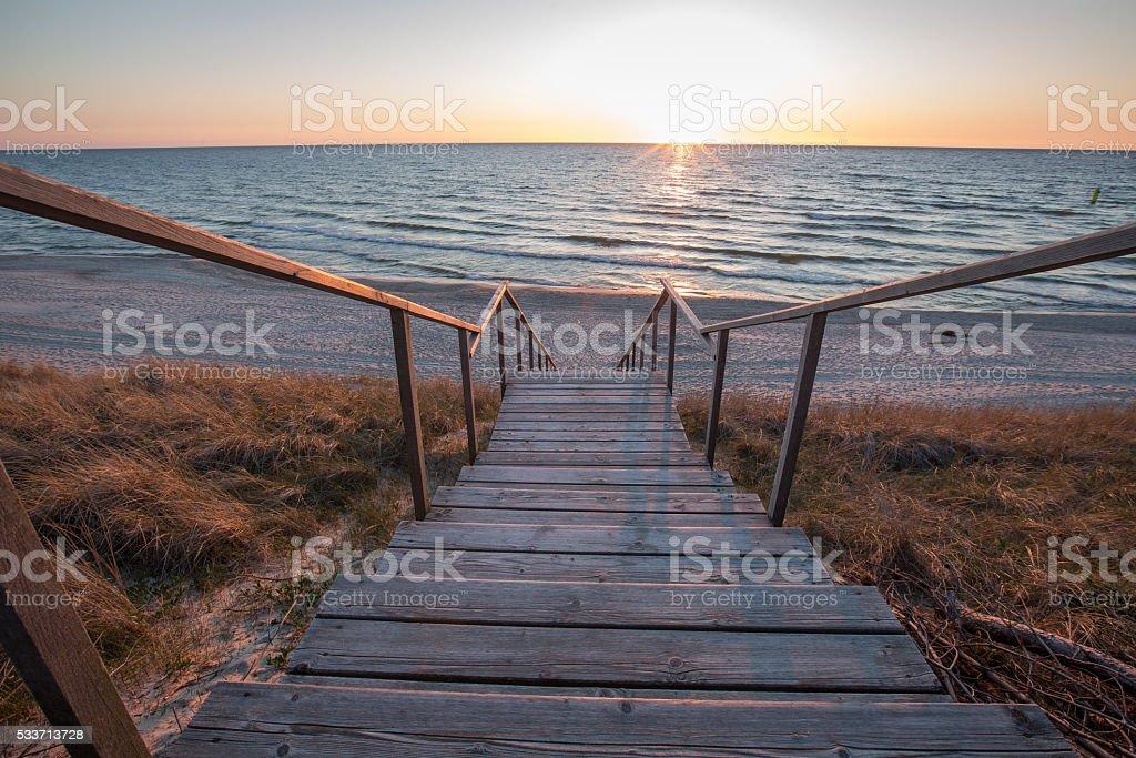 Kurshskaya kosa, Baltic sea, Kaliningrad Region, Russia stock photo