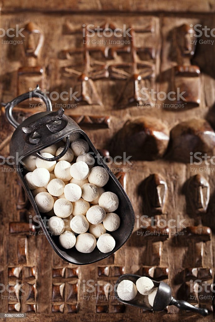 kurt kurut - asian dried yogurt balls stock photo