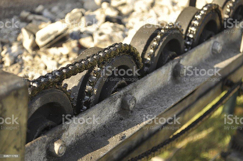 Kurtoskalacs (or kurtos kalacs) equipment stock photo