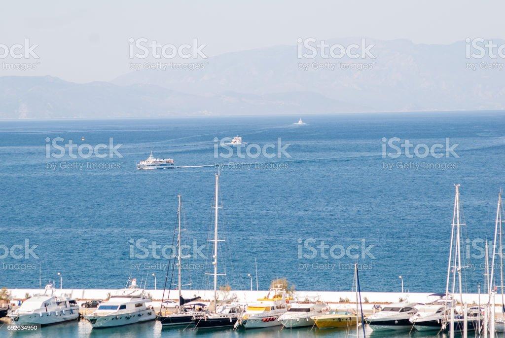 Kusadasi marina stock photo