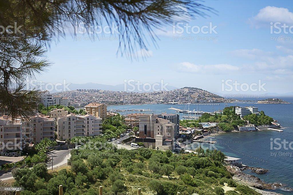 Kusadasi town, Turkey stock photo
