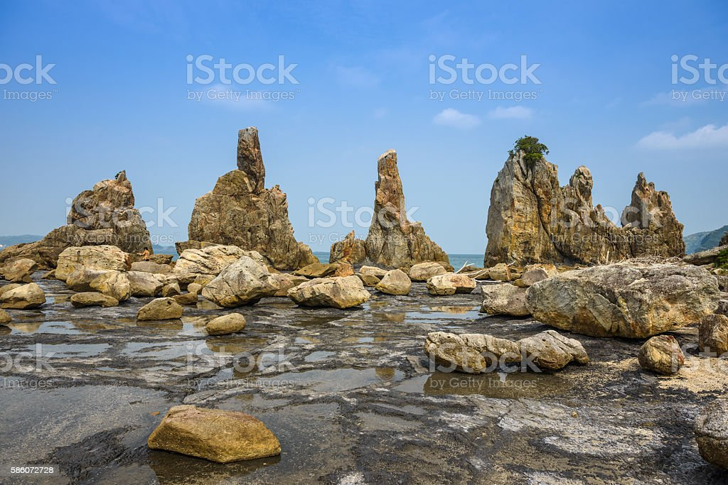 Kushimoto, Japan Rocky Coastline stock photo