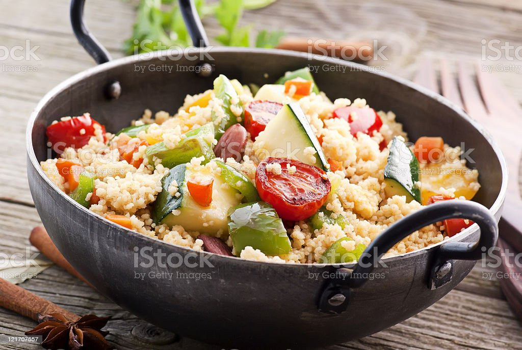 Kuskus with Vegetable royalty-free stock photo