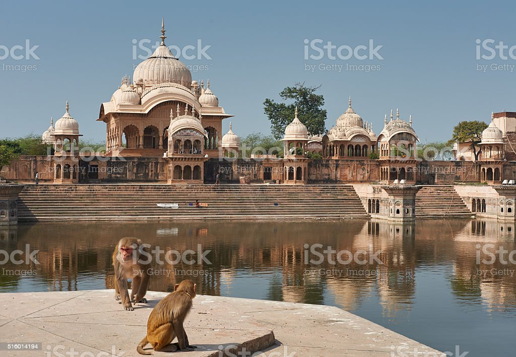 Kusum Sarovar  in Mathura Uttar-Pradesh, India. stock photo