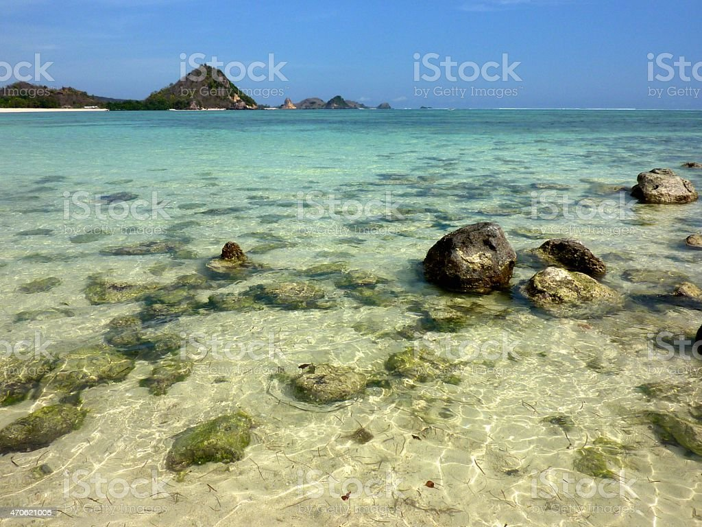 Kuta beach, Lombok South coast Indonesia stock photo